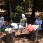 Tasha, Lisa, & Caroline at Fort Dobbs