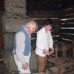 Cuinn, blacksmith apprentice at Schiele's Backcountry Farm