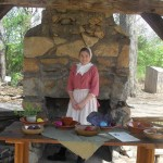 Addie at the natural dyes display